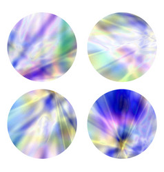 holographicgradient round frames set vector image