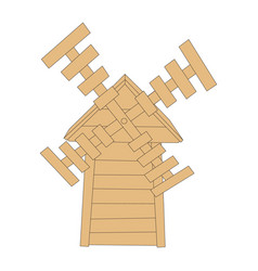 icon with a mill vector image