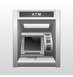 Isolated ATM Bank Cash Machine vector image