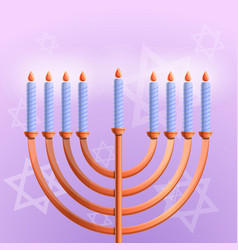 jewish hanukkah concept background cartoon style vector image