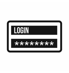 Login and password icon simple style vector image