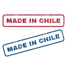 Made In Chile Rubber Stamps vector