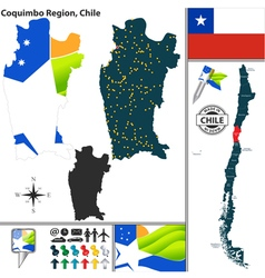Map of Coquimbo vector image vector image