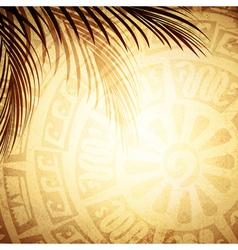Mayan Petroglyph vector image