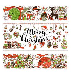 Merry christmas decorations and design elements vector