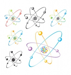 molecule set vector image
