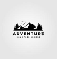 Mountain logo landscape adventure outdoor vector