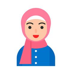 Muslim avatar people flat icon vector