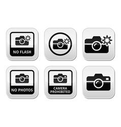 No photos no cameras no flash buttons vector