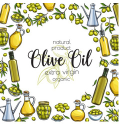Olive oil sketch vector