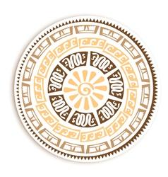 Petroglyph Round Emblem vector