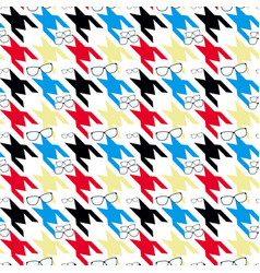 plaid checkereddog tooth pattern colorful hounds vector image
