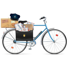 Postal Bicycle vector