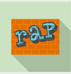 rap on bricks wall icon flat style vector image
