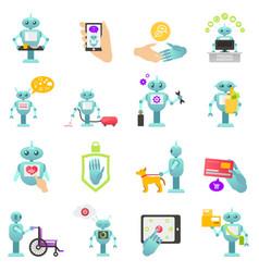 Robot advisor finance housework medicine vector