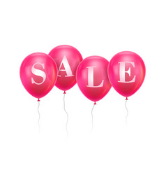 sale pink balloon vector image