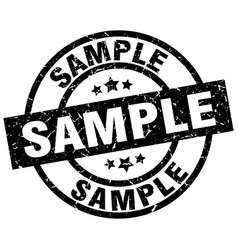 Sample round grunge black stamp vector