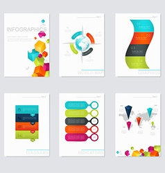 Set of infographics elements in modern flat vector