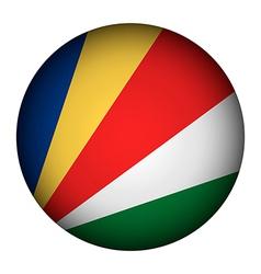 Seychelles flag button vector image