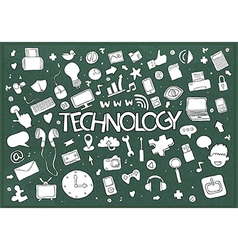 Social network background with media technology vector