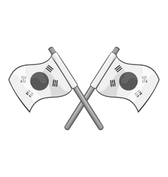South Korea flags icon gray monochrome style vector