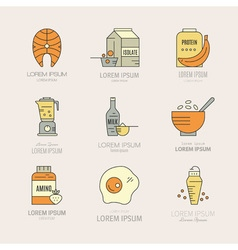 Sport Nutrition Icons vector image