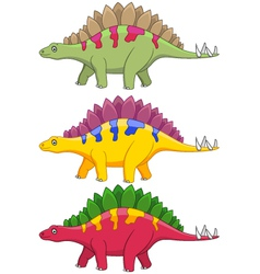 Stegosaurus cartoon vector image