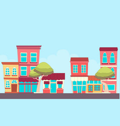 street small town vector image
