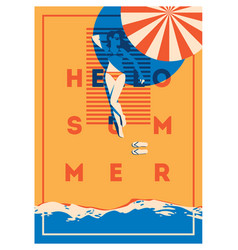 summer holiday and camp poster vector image