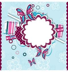 template greeting card scrap vector image vector image