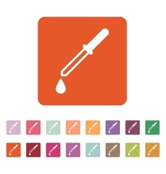 The pipette icon Dropper and eyedropper analysis vector image