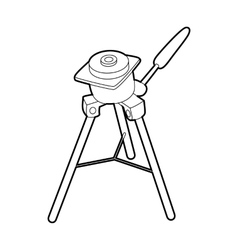 Tripod for camera icon outline style vector
