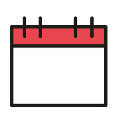 User interface calendar reminder linear and fill vector