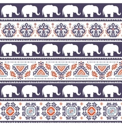 Vintage Indian elephant vector image