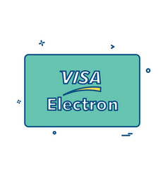 visa electron credit card design vector image