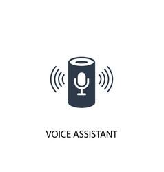 Voice assistant icon simple element vector