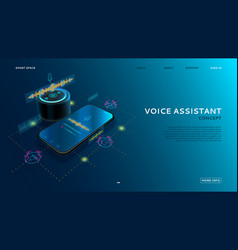 voice assistant modern concept vector image