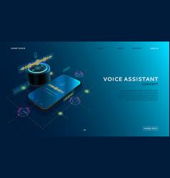 Voice assistant modern concept vector