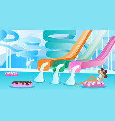 water slide pool background vector image