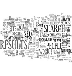 why seo is like exercise text word cloud concept vector image