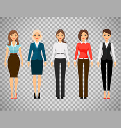 Women in office dress code clothes vector