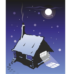 wooden cottage vector image