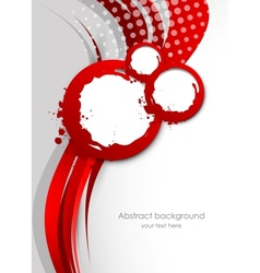Abstract wavy red background vector image