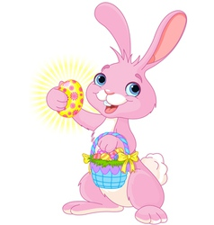 Easter Bunny with Easter Egg vector image vector image
