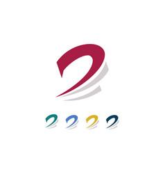 leter d swirl logo vector image vector image