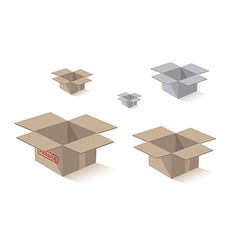 shipping packing box vector image vector image