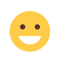yellow smiling cartoon face laughing emoji people vector image vector image