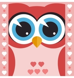 card with cute owl vector image vector image