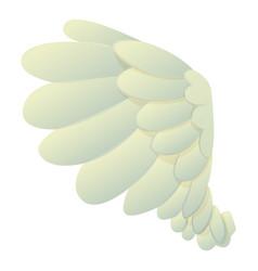 Dove wing icon cartoon style vector