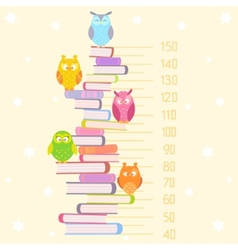 Owls on books vector image